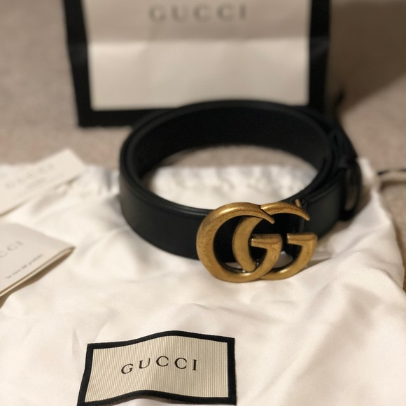 92511256a0e Gucci Accessories - Gucci Leather belt with double G buckle size 75